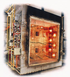 Large Scale Vertical Fire ResistanceTest Furnace FTT