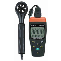 Air temperature / humidity, air speed & flow w/ pressure meter HT4000 HT Instrument