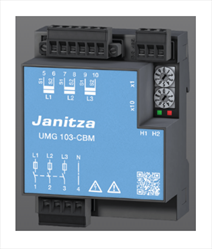 Universal measurement device for DIN rails UMG 103-CBM Janitza