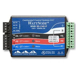 kWh Xducer,208/240VAC,Delta (Pulse out) Data Loggers T-WNB-3D-240  Onset HOBO