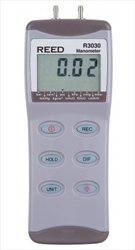 Digital Manometer, Gauge / Differential, 30psi R3030 REED