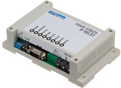 Web relay + full serial port over IP IP Relay HWg-ER02b HW group