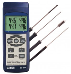 4 Channel Thermocouple Thermometer Data Logger Kit  SD-947DELUXE REED