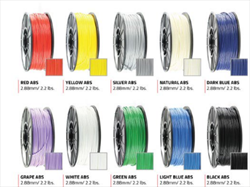 3D Printer Filaments AW3DDKBLUEABS Airwolf 3D