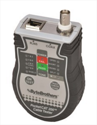 Pocket CAT Ethernet RJ45 and Coax Cable Tester CTX200 Byte Brothers