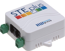 Ethernet thermometer with Digital Inputs HWg-STE plus HW group